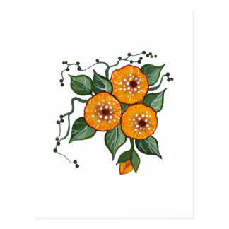 Handpainted Blossoms Postcard