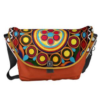 Handpainted Bohemian Kutch Mandala Messenger Bag