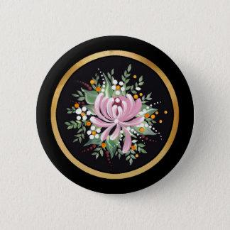 Handpainted Chrysanthemum Button