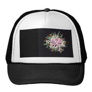 Handpainted Chrysanthemum Trucker Hat