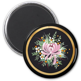 Handpainted Chrysanthemum Magnet