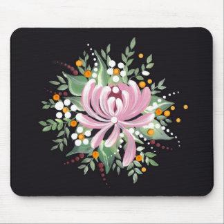 Handpainted Chrysanthemum Mouse Pad