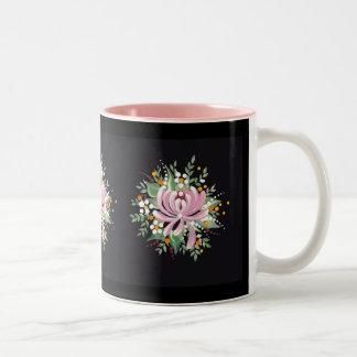 Handpainted Chrysanthemum Two-Tone Coffee Mug