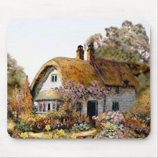 Handpainted Country Cottage Mouse Pad