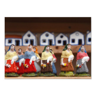 Handpainted figurines card