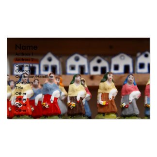 Handpainted figurines Double-Sided standard business cards (Pack of 100)