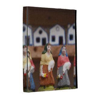 Handpainted figurines iPad folio cover
