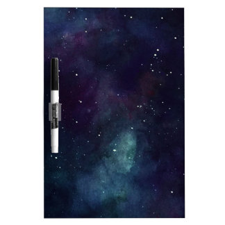 Handpainted Galaxy Dry Erase Board