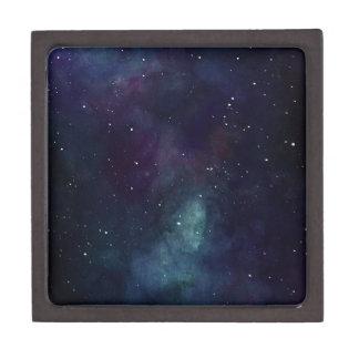 Handpainted Galaxy Jewelry Box