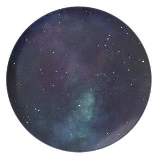 Handpainted Galaxy Plate