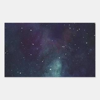 Handpainted Galaxy Rectangular Sticker