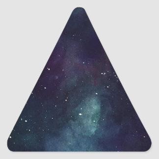 Handpainted Galaxy Triangle Sticker
