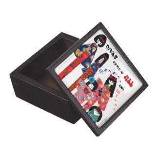 """""""Handpainted Japanese Kimono Trinket Box"""