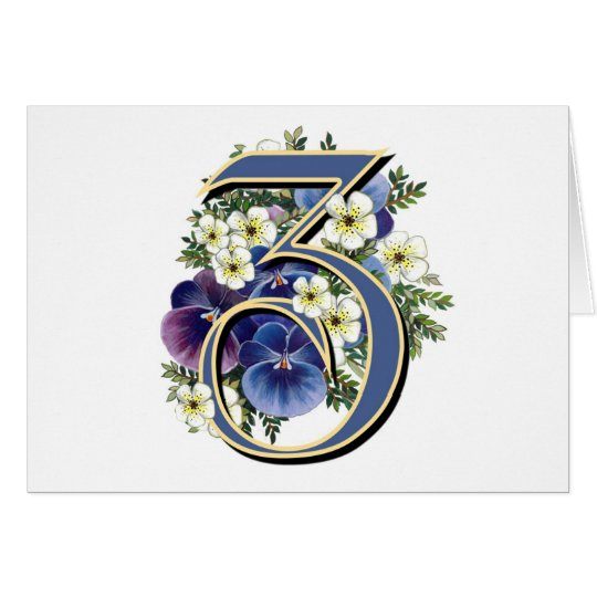 Handpainted Pansy Initial Monogram - Z Card