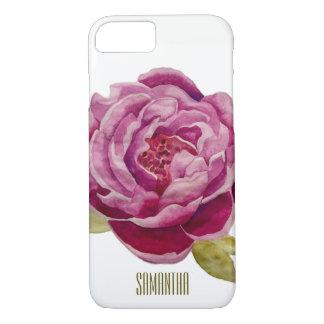 Handpainted Pink Floral Rose iPhone (7,6,5) Cover