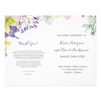 Handpainted water color narcissus daffodil wedding flyer