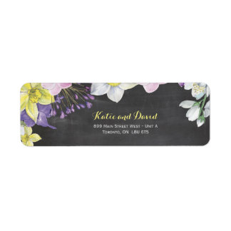 Handpainted water color narcissus daffodil wedding label