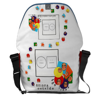 Handpainted Whimsical Colorful Encouraging Art Messenger Bag