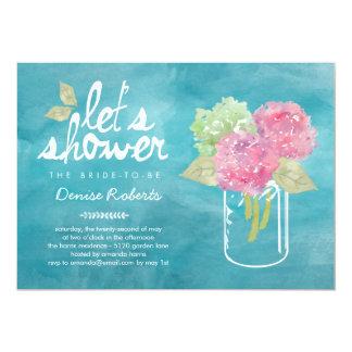 Handpicked Hydrangeas Bridal Shower Invitation