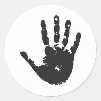 Handprint Classic Round Sticker