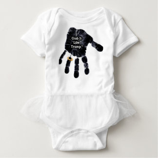Handprint Design with Ring with Grab it like Trump Baby Bodysuit