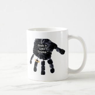 Handprint Design with Ring with Grab it like Trump Coffee Mug