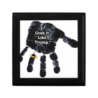 Handprint Design with Ring with Grab it like Trump Jewelry Box