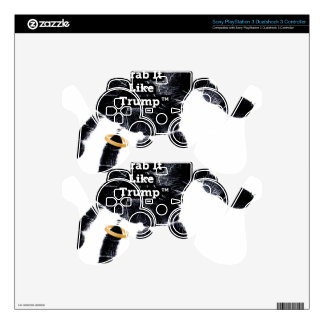 Handprint Design with Ring with Grab it like Trump Skin For PS3 Controller