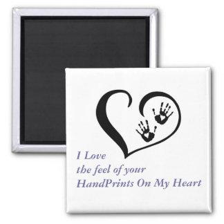 HandPrint en mi imán del corazón