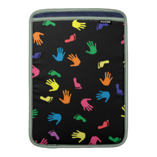 Handprint footprint multicolored MacBook air sleeve