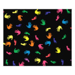 Handprint footprint multicolored photo print