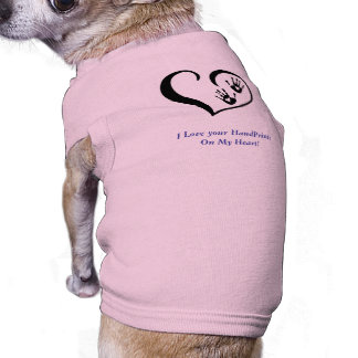 HandPrint logo dog tee shirt cover up