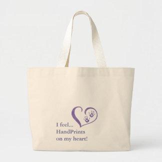 HandPrint logo Tote Canvas Bags