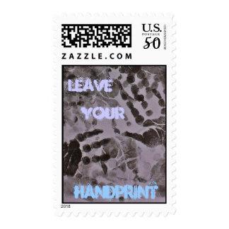 """Handprint on the World"" Postage"