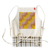 Handprint Pattern Zazzle HEART Apron