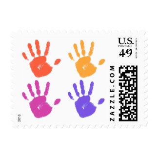 Handprint postage stamp