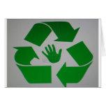 Handprint reciclado tarjeton