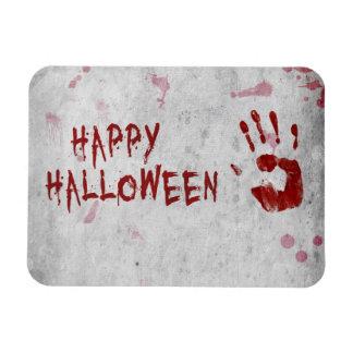 Handprint sangriento Halloween - imán flexible