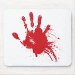 Handprint sangriento Z Alfombrilla De Ratón