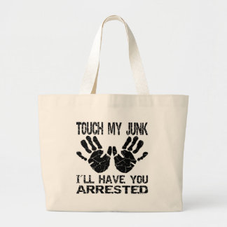 Handprint Touch My Junk I ll Have You Arrested Canvas Bag