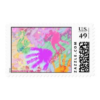 Handprints2 Postage Stamp