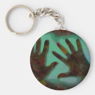 Handprints Basic Round Button Keychain