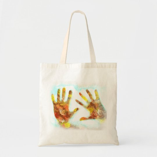 Handprints Budget Tote Bag