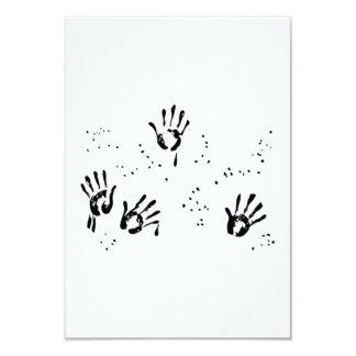 Handprints 3.5x5 Paper Invitation Card