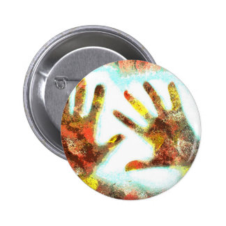 Handprints Pinback Button