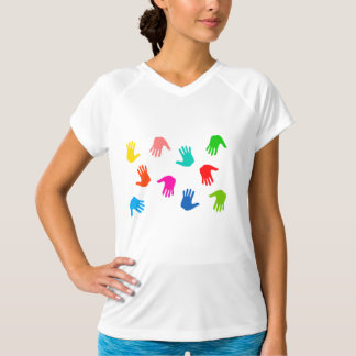 Handprints Womens Active Tee