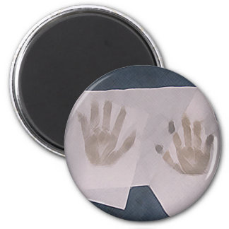 Hands 2 Inch Round Magnet