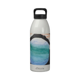Hands and Earth Drinking Bottle