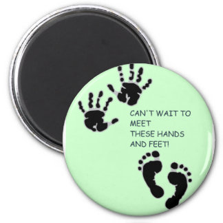 Hands and Feet Green Magnet