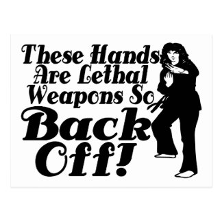 Hands Are Lethal Weapons Postcard